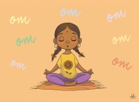 indian girl yoga